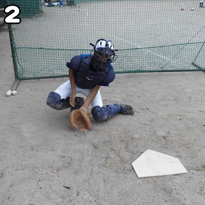 ボールの方向とは逆の足で動き出す