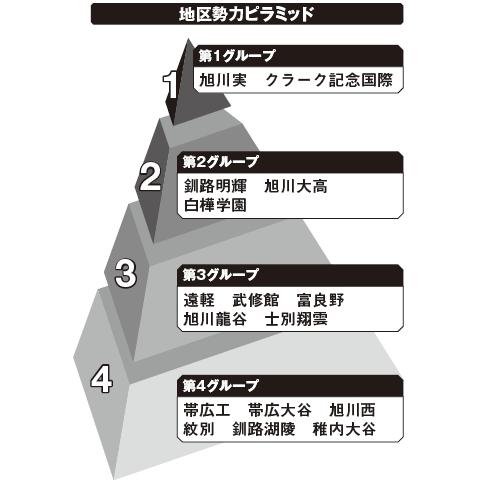 北北海道 勢力ピラミッド